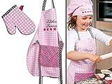 Emily´s Check Kochmütze - Küchenschürze & Topfhandschuh für Kinder 468.550, Küchenschürze & Topfhandschuh 3-6 Jahre, Kitchen Princess - 5