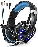 Foto Cuffie Gaming Microfono ArkarTech Cuffie Gioco PC Gamer Stereo Bass LED per PS4 Portatili PC Cellulari Tablet Nuovo Xbox One Mac Nintendo