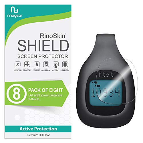 (8-Pack) RinoGear Screen Protector for Fitbit Zip Case Friendly Fitbit Zip Screen Protector Accessory Full Coverage Clear Film