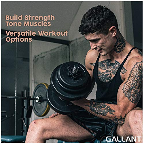 20kg Dumbbells Set For Men Women - Adjustable Free Hand Weights Dumbbell Excellent for Weight Lifting Body Building Home Gym Training Equipment Barbell Bench Press Exercise
