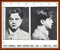 ポスター アンディ ウォーホル Most Wanted Men No. 2 John Victor G 額装品 ウッドハイグレードフレーム(ナチュラル)