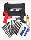 TR Kit de reparación de pinchazos de neumáticos de emergencia para coche, furgoneta, motocicleta, sin cámara