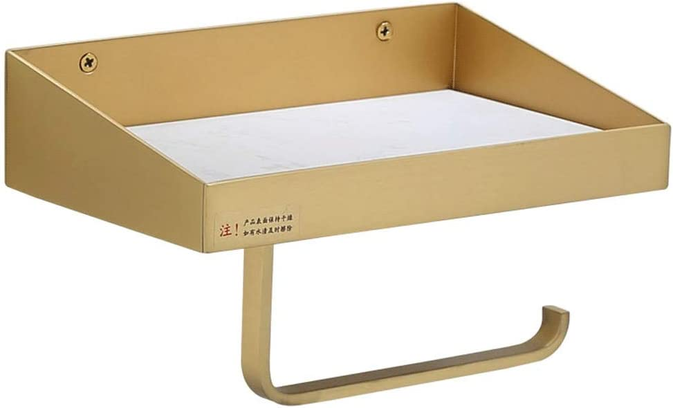 ZANZAN Toilet Paper OFFer New popularity Holder Golden Shelf with
