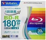 バーベイタムジャパン 三菱ケミカルメディア Verbatim 1回録画用 BD-R VBR130YP20V1 (片面1層/1-4倍速/20枚) ホワイト