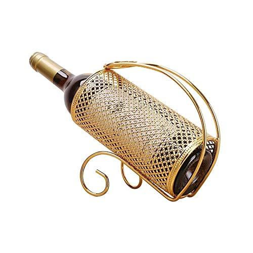 DAGONGREN Galvanoplastia Sencilla artesanía de Vino de Acero Vino Tinto Cerveza Vino Vino Titular del hogar Botellero