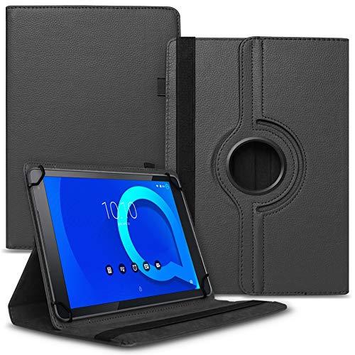 Tablet Hülle kompatibel für Alcatel 1T 10 Tasche Schutzhülle Hülle Schutz Cover 360° Drehbar 10.1 Zoll Etui, Farbe:Schwarz