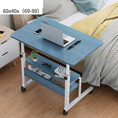 ALBBMY Laptop Desks Bedside table lift lazy simple household contracted and contemporary mobile notebook computer desk bed lifting table (Color : C)