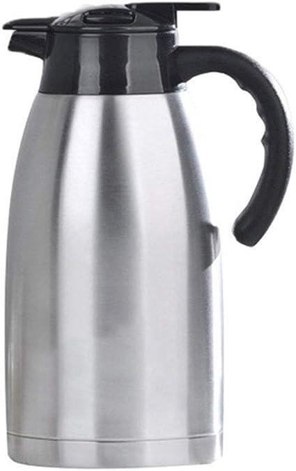 pichet thermo isol/é par vide /à double paroi et froid chaud pour le lait de th/é de caf/é deau 1,5 L dargent Pot thermo en acier inoxydable
