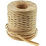 Creatrill 218 Yards Raffia Paper Craft Ribbon Packing Paper Twine, 1/4 Inch by 218 Yards (Kraft)