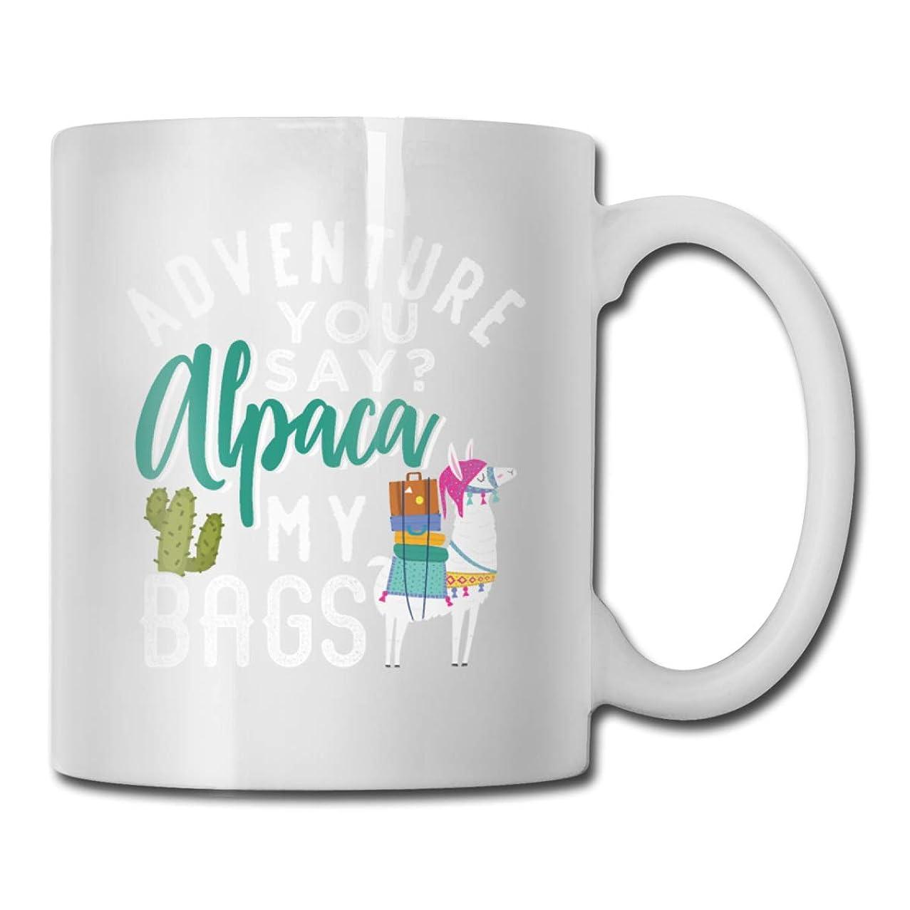Roing Bo Coffee Mugs 11oz Funny Cup Milk Juice Or Tea Cup Adventure You Say Alpaca My Bags Birthday