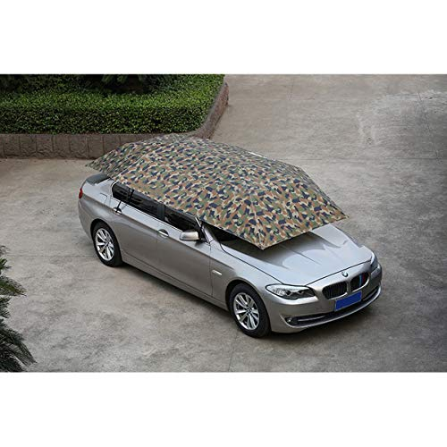 Autohoes Auto Cover Volledig Automatische Auto Cover Met Afstandsbediening Zonnescherm Regen Eenknops Start(grootte: 400 cm lang en 210 cm breed) Camouflage