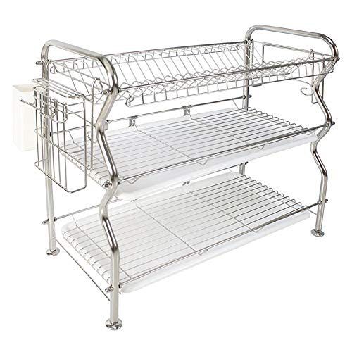 Beautiful Curve Modelling Dish Drainer Rack 3-Tier