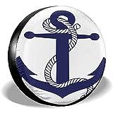 Fall Ing Cubierta del neumático Ancla Azul para Barco con Cable Repuesto Cubierta del neumático Fit para Remolque, RV, SUV, Rueda de camión