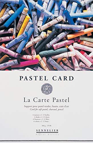 Sennelier: La Carte: Block de 12 Hojas De Papel Para Pasteles Tizas, 32x24cm (Papel de arena)
