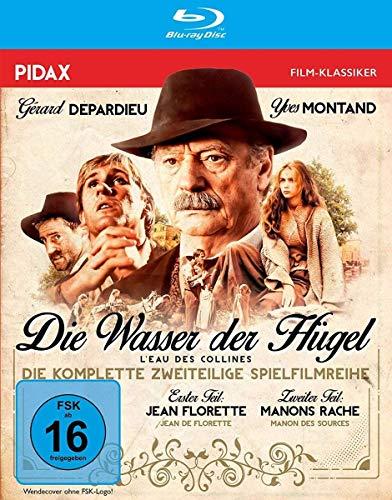 Die Wasser der Hügel (Jean Florette + Manons Rache) / Zweiteiliges Epos mit Yves Montand und Gérard Depardieu (Pidax Film-Klassiker) [Blu-ray]