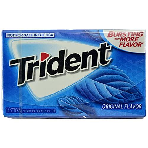 Trident Sugar Free Chewing Gum Original Flavor, 14 Sticks, 26 g