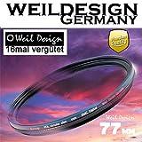 Polfilter POL 77 mm Circular Slim XMC Digital Weil Design Germany SYOOP * Kräftigere Farben * Frontgewinde * 16 Fach XMC vergütet * inkl. Filterbox * zirkulare (POL Filter 77)