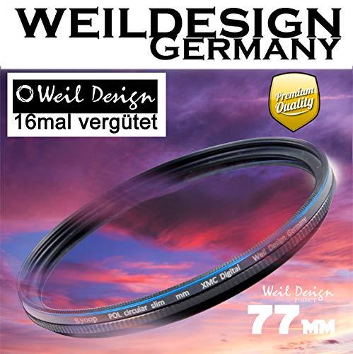 Polfilter POL 77 mm Circular Slim XMC Digital Weil Design Germany SYOOP * Kräftigere Farben *...