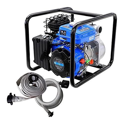 Güde 94503 Motorpumpe-Set GMP 15.22 (4-Takt Motor, Fördervolumen: 15.000 l/h, max. Förderhöhe: 22 m, Benzin-Motorpumpe)