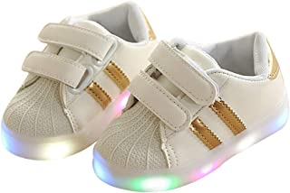 BY0NE Baby Kids Boys Girls LED Light up Shoes Luminous Glowing Sneakers Baby Children Shoes