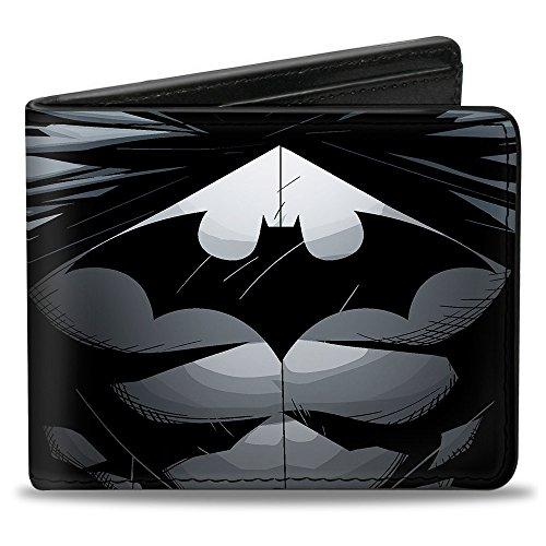 Buckle-Down Unisex-Erwachsene Bifold Wallet Batman Zweifalten-Geldbörse, Mehrfarbig, Einheitsgröße