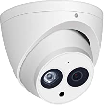 6MP HD Security POE IP Camera, IPC-HDW4631C-A 2.8mm, All-Metal Eyeball Dome Camera with Built-in MIC, 165ft Smart IR Night...
