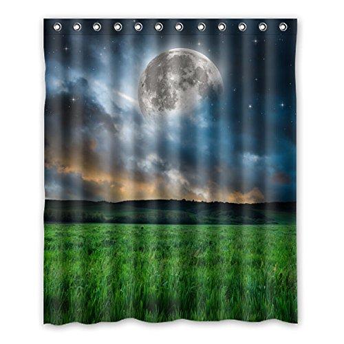 Wild costumes 152 cm X183 cm (152,4 x 182,9 cm) Badezimmer Dusche Vorhang, Charming Moonlight Custom Wasserdicht Duschvorhang Schimmel, Polyester, F, 152,4 x 182,9 cm