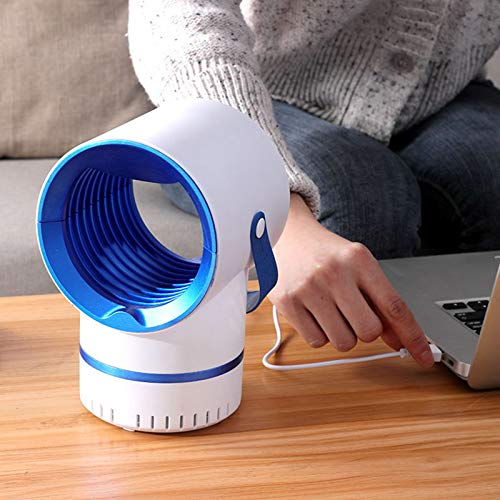KAIXIN Mosquito USB Lámpara de Captura eléctrica Choque eléctrico Mosquitero Swatter Mosquito...