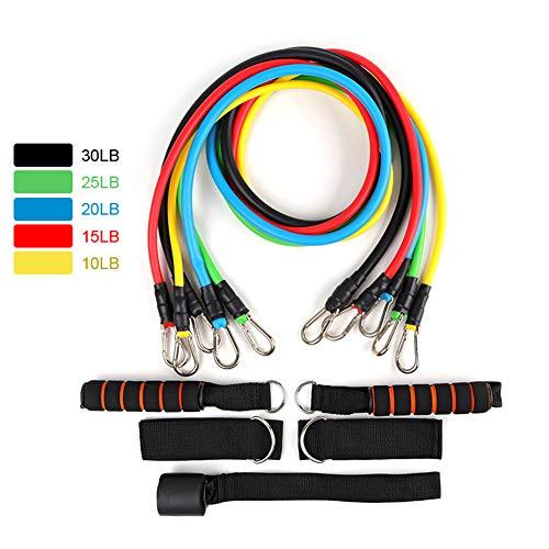Latex Resistance Band, Hometrainer Yoga Buis Spankabel Rubber Expander Elastische Fitnessband (11 Stuks/Set)