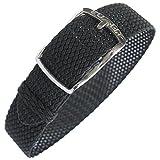 Eulit Kristall 14mm Black Perlon Watch Strap