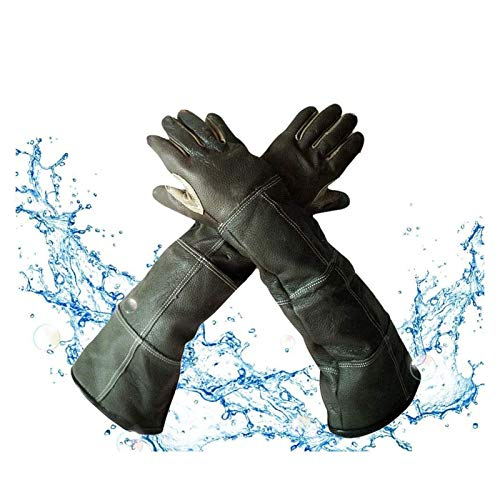 YYQQ Tierhandschuhe, Kratz- / bissfeste Handschuhe, Anti-Biss-Handschuhe, für Hunde, Hunde, Katzen, Schutzhandschuhe für Wildtiere (Color : Braun)