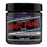 Manic Panic Dark Star Grey Hair Dye with Purple Tones Classic High Voltage - Semi-Permanent Hair Dye Color Bleach is Vegan