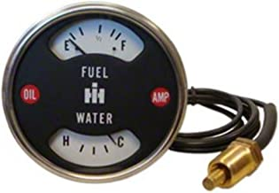 RTP - International Harvester IH and Farmall Tractor Fuel Water Temperature Cluster Gauge with Eyelet Terminal
