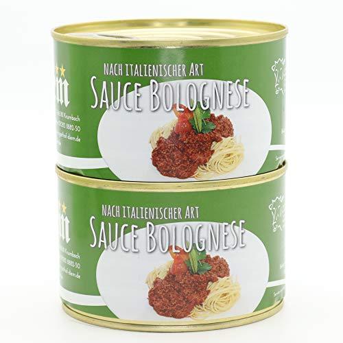 2x Konserve - Diem Bolognese, Pasta Soße, Spaghetti, Nudelsoße, Konserve - Camping - Dose - 400g - Lange Haltbarkeit