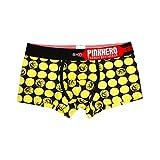 minjiSF Calzoncillos tipo bóxer para hombre, ropa interior sexy, informales, con estampado, cintura baja, transpirables, estilo retro amarillo 150 cm(7-8Años)