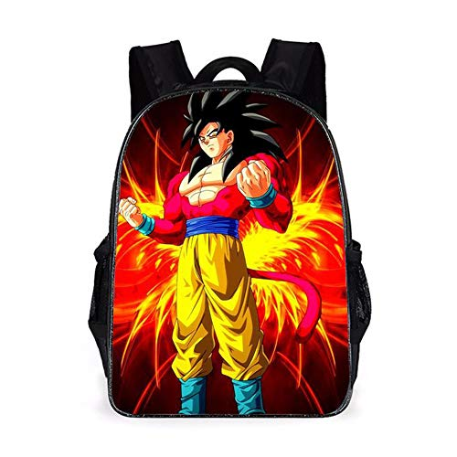 Dragon Ball Backpacks Kids School Backpack Goku School Bag Dragon Ball 3D Printed Cartoon School Bag for Boys Elementary and Middle School Students