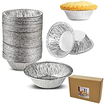400 Pieces 2.76 Inch Round Mini Pie Pans Individual Pie Tins Mini Disposable Pie Tins for Baking Cooking Supplies