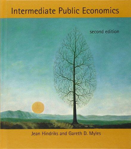 Hindriks, J: Intermediate Public Economics (Mit Press)