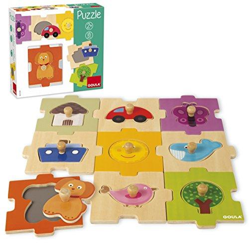 Goula D53120 - houten puzzel Vario, 18 delen