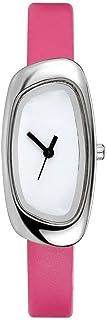 韓国風の革新的なクォーツ時計ファッショナブルなプレッピースタイルのステンレススチール製ボトムカバーIPGメッキケースレザーストラップFD029