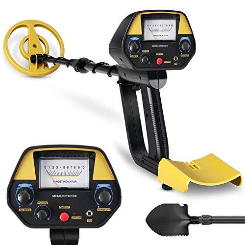 Intey Metalldetektor, Empfindlichkeit verstellbar, wasserdichte Spule, verstellbarer Schaft, hohe Präzision, Klappschaufel für Erwachsene