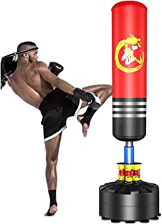 Dripex Freestanding Punching Bag 69'' - 182lb Heavy Boxing Bag with Suction Cup Base for Adult Youth Women Men- Free Stand...