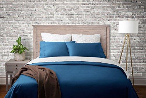 Magnolia Organics Dream Collection Duvet Set - Full/Queen, Moroccan Blue