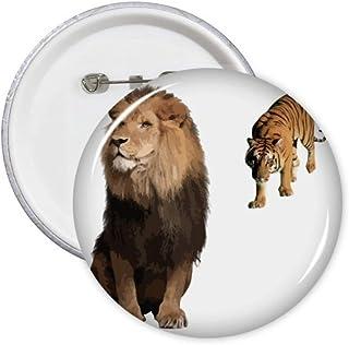 Lot de 5 badges félin Tigers Attaque félin féroce