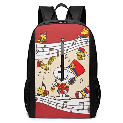 xiameng Backpack 17 Inch, Happy Snoopy Large Laptop Bag Travel Hiking Daypack For Men Women School Work