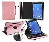 Emartbuy® Odys Rapid 7 LTE Weiß Edition 7 Zoll Tablet Universal (7-8 Zoll) Baby Rosa Premium PU Leder360GradrotierendeStandFolioGeldbörseTascheHülle + Rosa Eingabestift