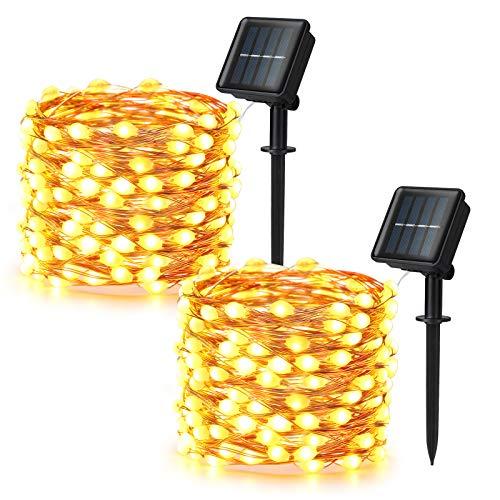Brizled Solar String Lights, 2 Pack 33ft 100 LED Super Bright Solar Fairy...