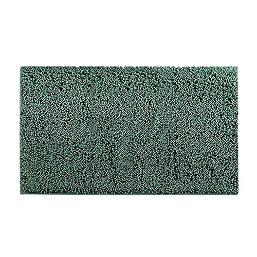 HUAFA Alfombra de baño Antideslizante Chenille Alfombrillas de baño Extra Suave y Absorbente, 80 x50 cm (Verde Oscuro)