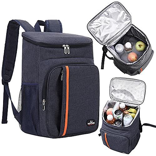 GerTong Picknick-Rucksack, isolierte Picknick-Kühltasche, isolierte Lunchtasche, auslaufsicher, Outdoor-Kühltasche für Camping, Angeln, Grillen, Grillen, Wandern