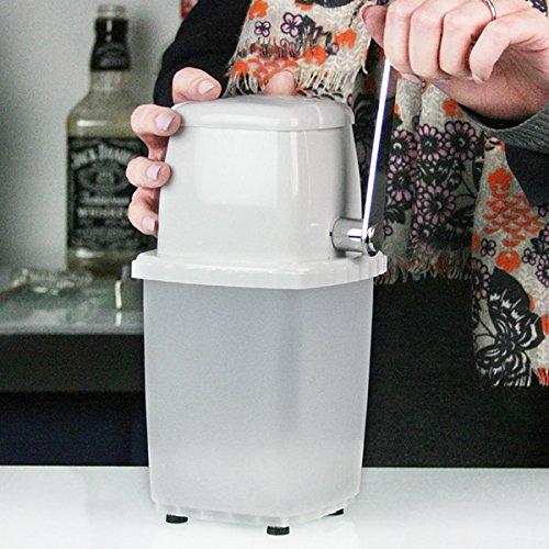 Bar@drinkstuff Broyeur à glace manuel en plastique blanc pour cocktails, destiné à usage domestique parfait pour faire des mojitos